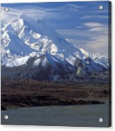 Mt. Mckinley And Lenticular Clouds Acrylic Print