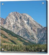 Mt Moran At The Grand Tetons Acrylic Print