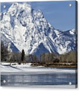 Mt Moran From Oxbow Bend Acrylic Print