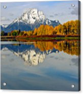 Mt Moran From The Ox Bow Acrylic Print