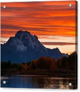 Mt. Moran Sunset Acrylic Print