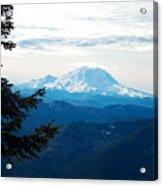Mt Rainier And Lenticular Cloud Acrylic Print