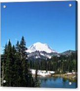 Mt. Rainier And Tipsoo Lake Acrylic Print