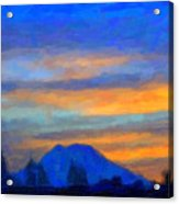 Mt. Rainier At Sunrise Acrylic Print