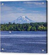 Mt Rainier Blues Acrylic Print