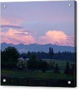 Mt Rainier Blush Acrylic Print