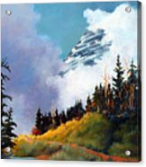 Mt. Rainier In Clouds Acrylic Print