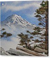 Mt. Rainier Landscape Acrylic Print