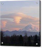 Mt Rainier Lenticular Funnels Acrylic Print