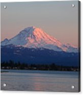 Mt Rainier Sunset Acrylic Print