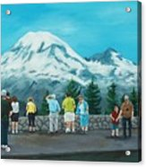 Mt. Rainier Tourists Acrylic Print