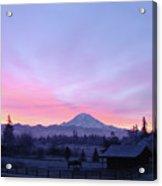 Mt Rainier Winter Sunrise-1 Acrylic Print