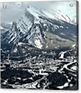 Mt Rundle Aerial View Acrylic Print