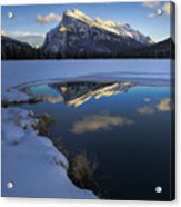 Mt. Rundle Winter Reflection Acrylic Print