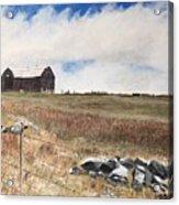 Mt Savior Barn Acrylic Print