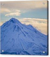 Mt. Shasta Snow Drifts Acrylic Print