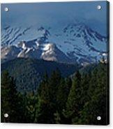 Mt Shasta Under Clouds - Panorama Acrylic Print