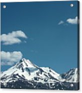 Mt Shasta With Heart-shaped Cloud Acrylic Print
