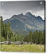 Mt Sneffels In The Colorado Rocky Mountains Acrylic Print