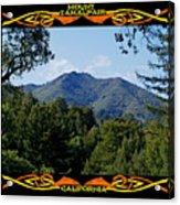 Mt Tamalpais Framed 1 Acrylic Print