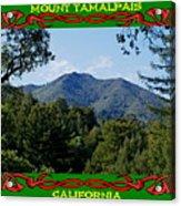 Mt Tamalpais Framed 5 Acrylic Print