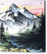 Mt Thielson Oregon Acrylic Print