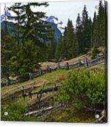 Mt. Trails Acrylic Print