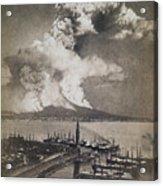 Mt. Vesuvius Erupting Acrylic Print