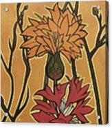 Mucha Ado About Flowers Acrylic Print