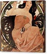 Mucha: Cigarette Paper Ad Acrylic Print