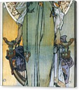 Mucha: Theatrical Poster Acrylic Print