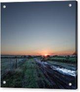 Muddy Road Sunrise II Acrylic Print