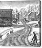 Muddy South Dakota Farmyard Acrylic Print