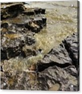 Muddy Water On The Rocks Acrylic Print