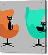 Mug Design With Egg Chairs Acrylic Print