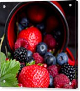 Mug With Fresh Berries Acrylic Print