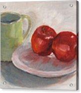 Mugging For Apples Acrylic Print