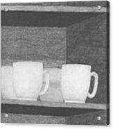 Mugs On A Shelf Acrylic Print