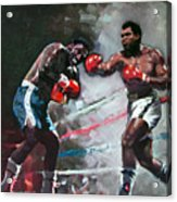 Muhammad Ali And Joe Frazier Acrylic Print