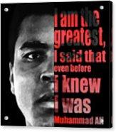 Muhammad Ali - Cassius Clay Portrait 2 - By Diana Van Acrylic Print