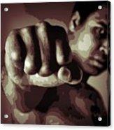 Muhammad Ali Fist Poster Acrylic Print