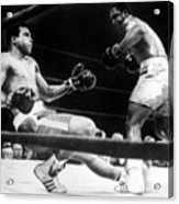Muhammad Ali Knocked Down By Joe Acrylic Print by Everett