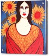 Mujer Con Flores Acrylic Print