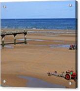Mulberry Harbour, Omaha Beach, Normandy Acrylic Print