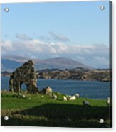 Mull And The Trossachs From Iona Acrylic Print