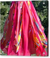 Multi-color Pink Skirt. Ameynra Design Acrylic Print