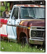 Multi-colored Ford Acrylic Print