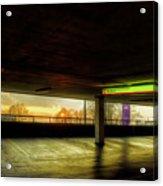 Multi-storey Sunset Acrylic Print