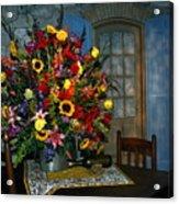 Multicolor Floral Arrangement Acrylic Print