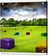 Multicolored Bales Fantasy Acrylic Print